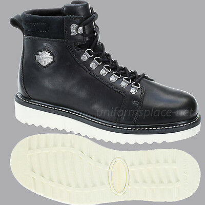 Harley Davidson Boots Mens Larry Lace Up Wedge Boot Black
