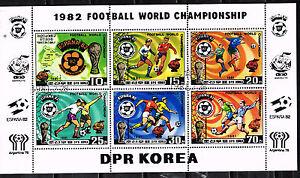 Korea Sport Soccer Football World Cup Espana 82 Souvenir Sheet