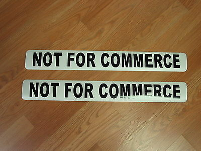 Tow Truck NOT FOR COMMERCE Magnetic signs Car Van SUV US DOT Approved