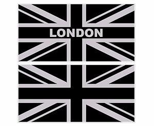 Image Is Loading LARGE SILVER BLACK UNION JACK FLAG UK 300mm