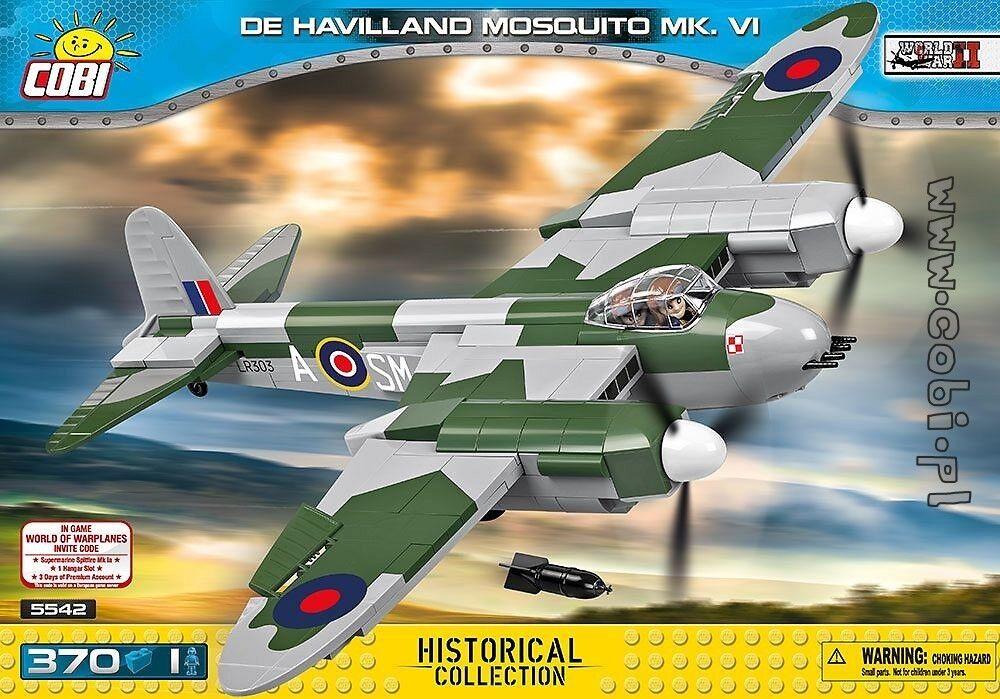 COBI WORLD WAR II - DE HAVILLAND MOSQUITO MK.VI + WORLD OF WARPLANES BONUS