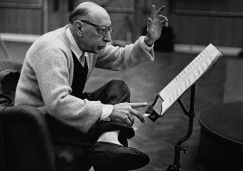 Art Print POSTER Russian Composer Igor Stravinsky 1958