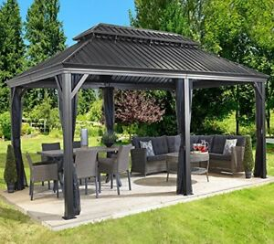 Sojag Messina 12 X 20 Galvanized Steel Roof Sun Shelter Ebay