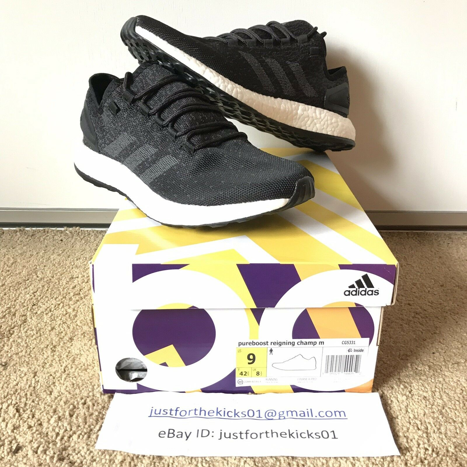 ADIDAS PUREBOOST REIGNING REIGNING REIGNING CHAMP CG5331 MEN'S SIZE 9.0  160 0bd219