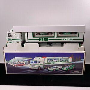New1992 Hess Toy 18 Wheeler Box Truck and Racer Original Box