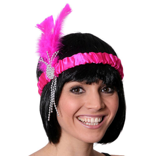 ROSA anni 1920 20 Cerchietto Gangster MOLL HEAD BAND Costume Accessorio