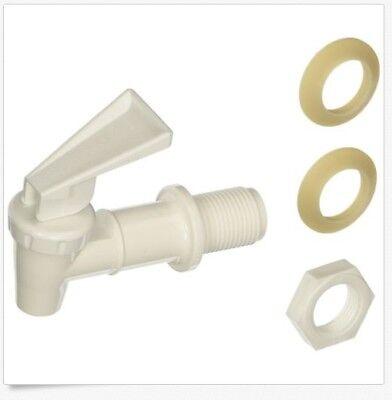 "Replacement Water Faucet Spigot Dispenser 3//4/"" Valve Bottle Crock SILVER CHROME"