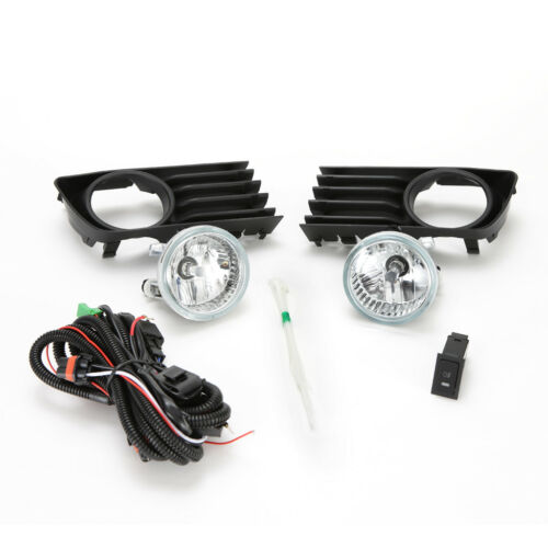 Clean Lens Fog Light Assembly For 04-09 Toyota Prius Set Switch Bulbs Bezel Wire