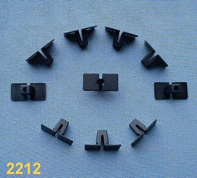 (2212) 10x Spreizmutter Zierleistenklammern Klammer leiste Clipse Zierleiste sch