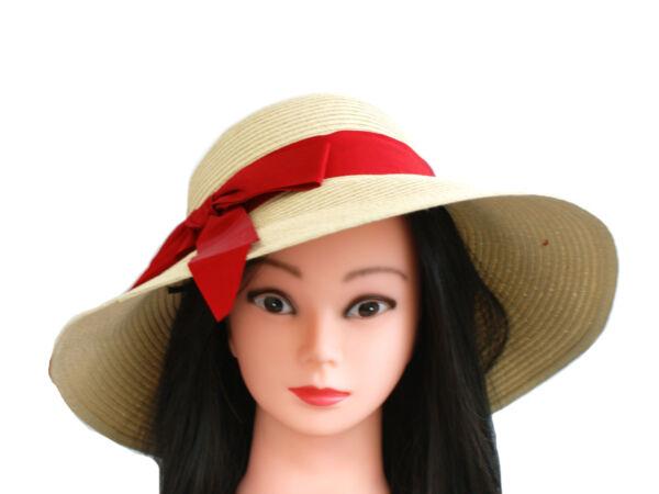 ** Vendita ** Nuova Collezione Donna Casual Di Paglia Estate Cappello Floscio Fiocco Rosso Numerosi In Varietà