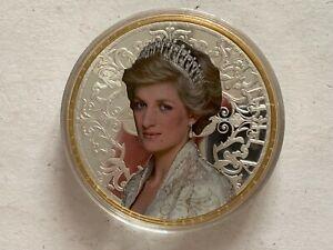 CoopéRative Médaille Géant 100 Mm, Princesse, Princess Diana, Cu Plaqué-afficher Le Titre D'origine