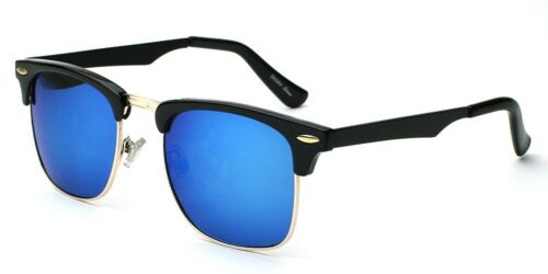 Retro Vintage Mirrored Sunglasses Mens Womens Metal Half Frame