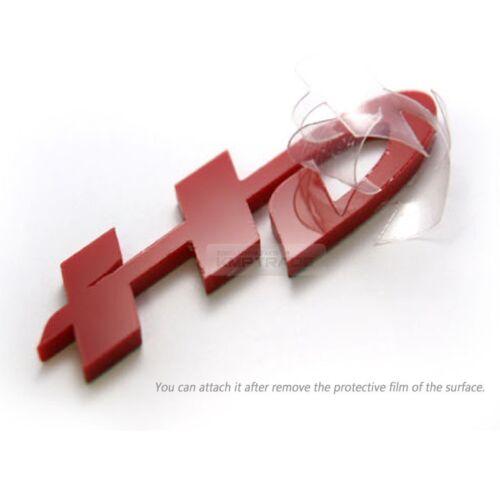 Rear Trunk HD Point Emblem Logo Red Badge for HYUNDAI 2007-2010 Elantra HD
