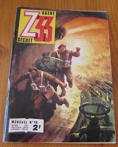 Ambitieux Petit Format Agent Z33 Secret Mensuel N18 By Imperia 1974 Bon Etat