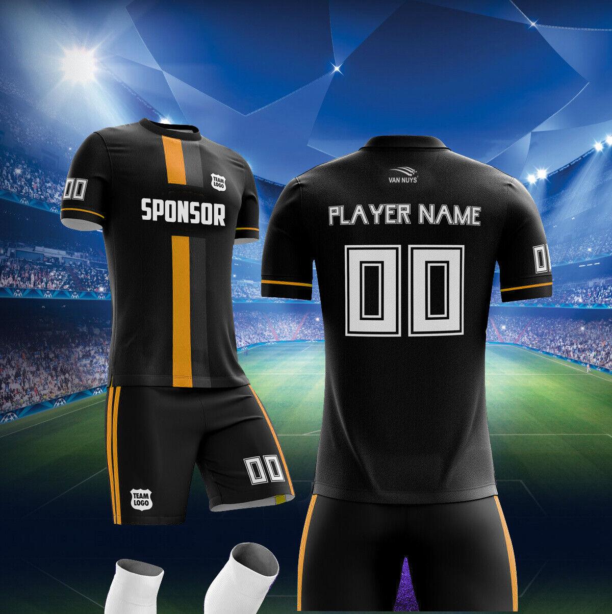 Vans 12 personalizado hecho Conjunto de uniforme de fútbol para adultos tamaño del equipo juvenil Sublimar al por mayor