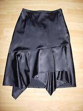 Jupe asymétrique satin polyester Taille 36 noir
