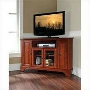 Crosley Furniture LaFayette 48-Inch Corner TV Stand, Classic Cherry