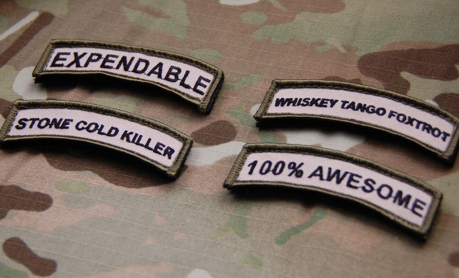 100/% AWESOME Tab Patch Multicam US Army Morale Patch Afghanistan Hook /& Loop