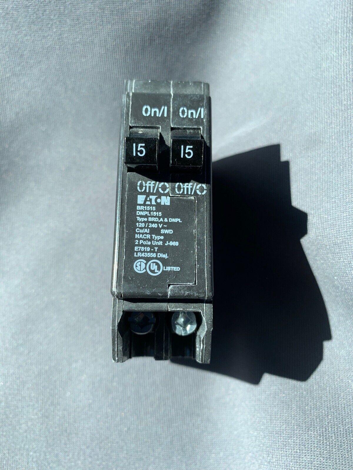 NEW EATON CUTLER HAMMER BR1515 2P 15//15A BR1515 TYPE BRD /& A /& DNPL