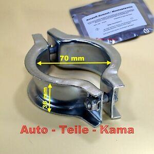 Auspuff-Montage-Schelle-fuer-Volvo-Klemmschelle-70-mm-mit-Montagepaste-im-Set