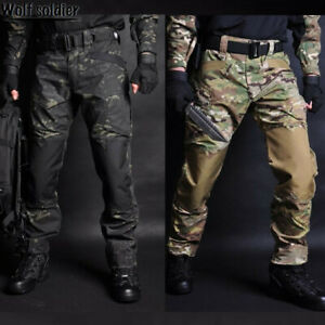 Mens-Military-Pants-Army-Combat-Tactical-Cargo-Trousers-Hiking-Casual-Camouflage