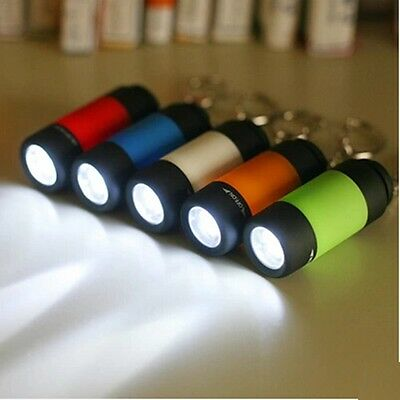 Rechargeable USB LED Mini Flashlight Torch Light Lamp Portable Key Chain