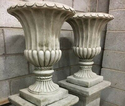 Pair of georgian urns garden ornaments planter tubs