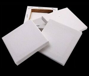 "20x20 cm 8x8/"" CANVAS STRETCHED ARTIST ACRYLIC PRIMED BOX FRAMED 100/%COTTON ART"