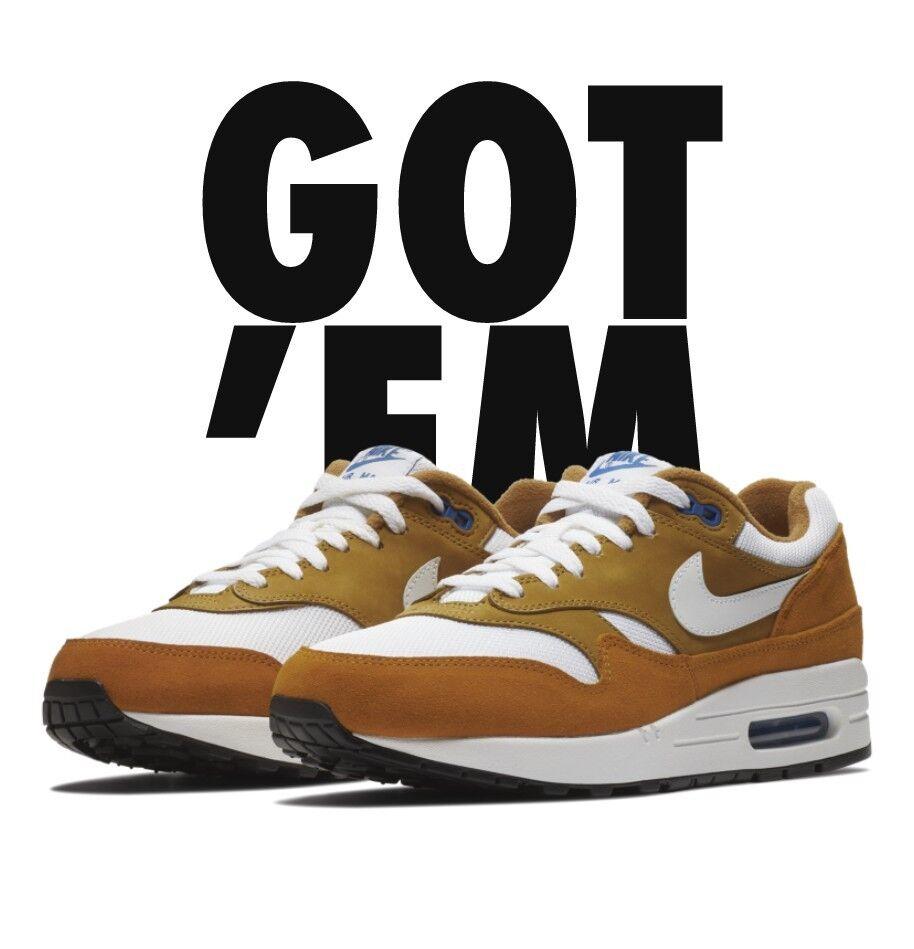 Nike air max 1 premio buio curry 908366-700 uomini scarpe da corsa 908366-700 curry sz 10 3f4b49