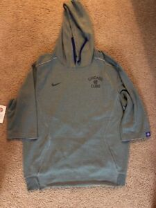 outlet store 4cf06 b71d0 Details about Nile Chicago Cubs Hoodie 3/4 Sleeve Gray Hoodie World Series  Sz L