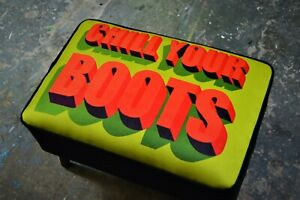 New-Mid-Century-Modern-Style-Footstool-Ottoman-Chill-Your-Boots-LIMITED-EDITION