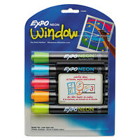 Expo Neon Dry Erase Marker Bullet Tip Assorted 5/set 1752226 on sale
