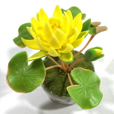 Dollhouse Clay Little Lotus Flower Potting 1:12 Miniature Decor Accessories