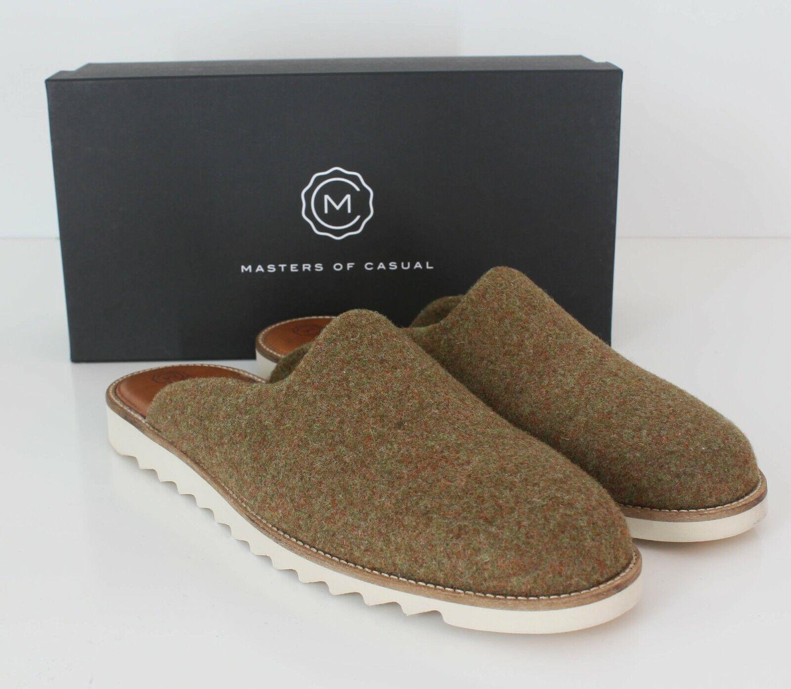 Masters Of Casual Domingo Slide Sandals Tweed Wool Cyprus NWB Portugal 44 / 11
