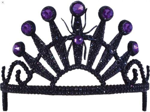 Halloween Sorcière Spider Diadème Noir Méchante Reine Diadème Tête Costume Cosplay