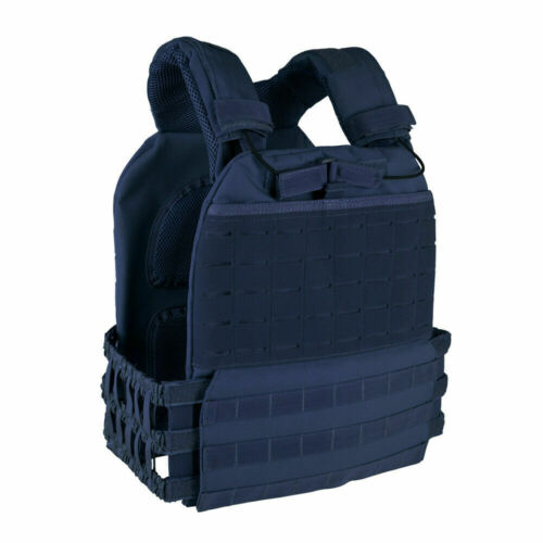 Tactical MOLLE CrossFit Adjustable Weighted Vest Plate Carrier Quick Release