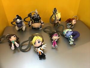 Overwatch Backpack Hanger Clip Keychain Blind Bag Figure Blizzard 2017- Lot of 8
