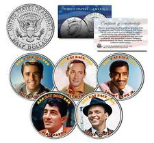 RAT PACK Colorized JFK Half Dollar 5-Coin Set Sinatra Dean Martin Sammy Davis Jr