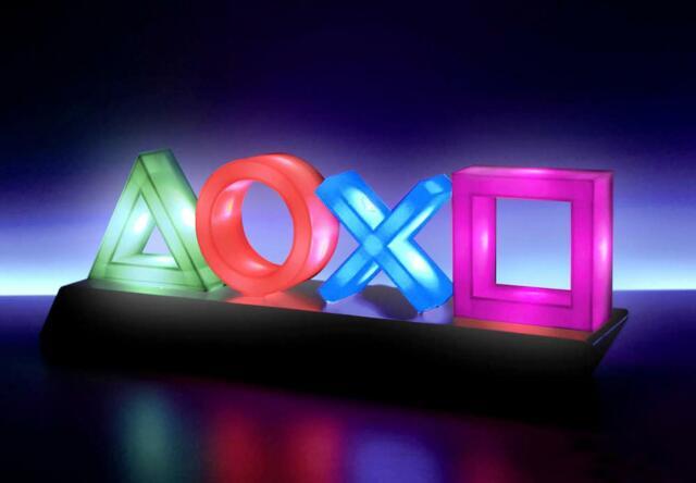 Sony Playstation Lampe Symbole Icons Dekolampe Farbwechsel Leuchte Nachtlicht PS