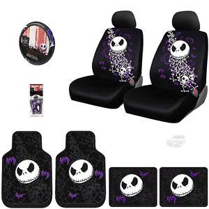 Nightmare Before Christmas Ghostly Jack Skellington Low Back Seat Covers