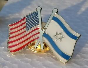 12 Israel USA Flags Lapel Pins American Israeli National Flag Patriotic Pins New