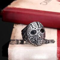 Mens Jewelry Friday The 13th Freddy Vs. Jason 316L Titanium steel Ring Sz 8-11