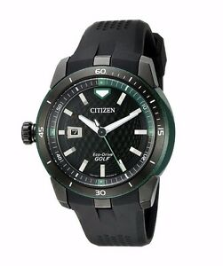 Citizen-Eco-Drive-Men-039-s-AW1505-03E-Ecosphere-Golf-47mm-Black-Strap-Watch