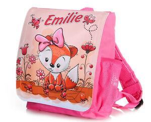 Kinderrucksack-mit-Name-Fuchs-Maedchen-pink-Kindergartenrucksack-Kita-Tasche