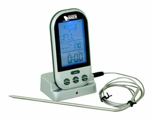 Funk-Bratenthermometer WS 1050  Fleisch-Thermometer Ofen Grill Küche BBQ Smoker