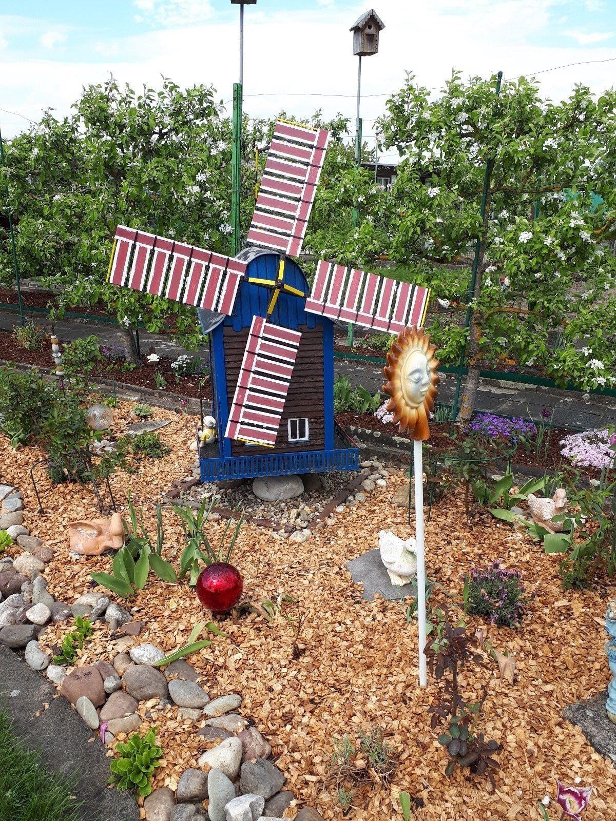 Unikat Unikat Unikat und Rarität Dekoration für den Garten Windmühle einzigartig 92360e