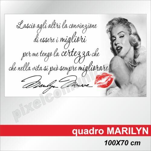 QUADRI MODERNI TELA MARILYN MONROE ARREDAMENTO CASA DESIGN 100X70