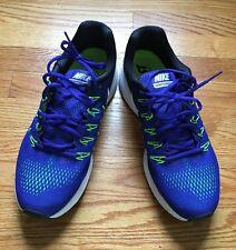 Nike Zoom Pegasus 33 Running Shoes ~ Size 11 ~ Blue, Electric Green, Black