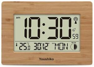 Radio-Controlled-Large-Screen-LCD-Wall-or-Desk-Clock-UK-amp-Ireland-Version