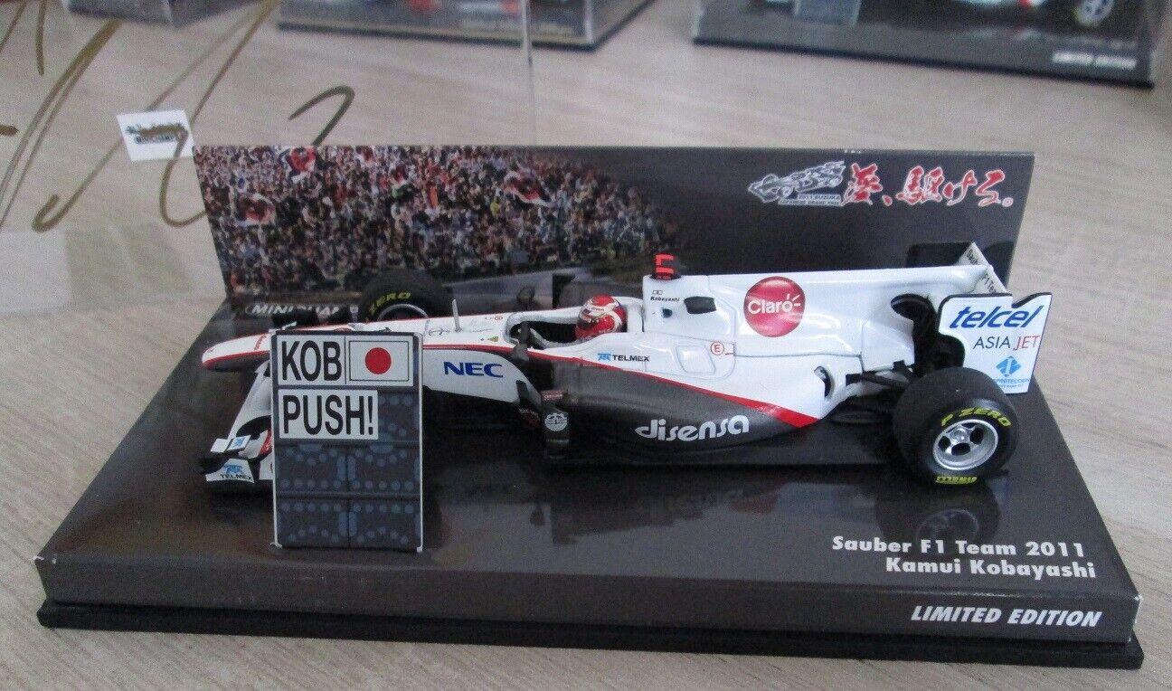 F1 1 43 c30 sauber kobayashi suzuka 2011 minichamps signed